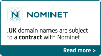 To register a .UK domain name you agree to Nominet's terms and conditions