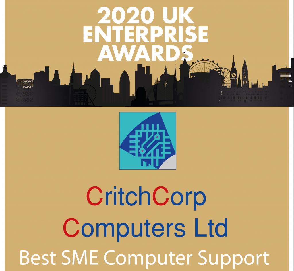 CritchCorp Winner of the 2020 SME UK Enterprise Awards