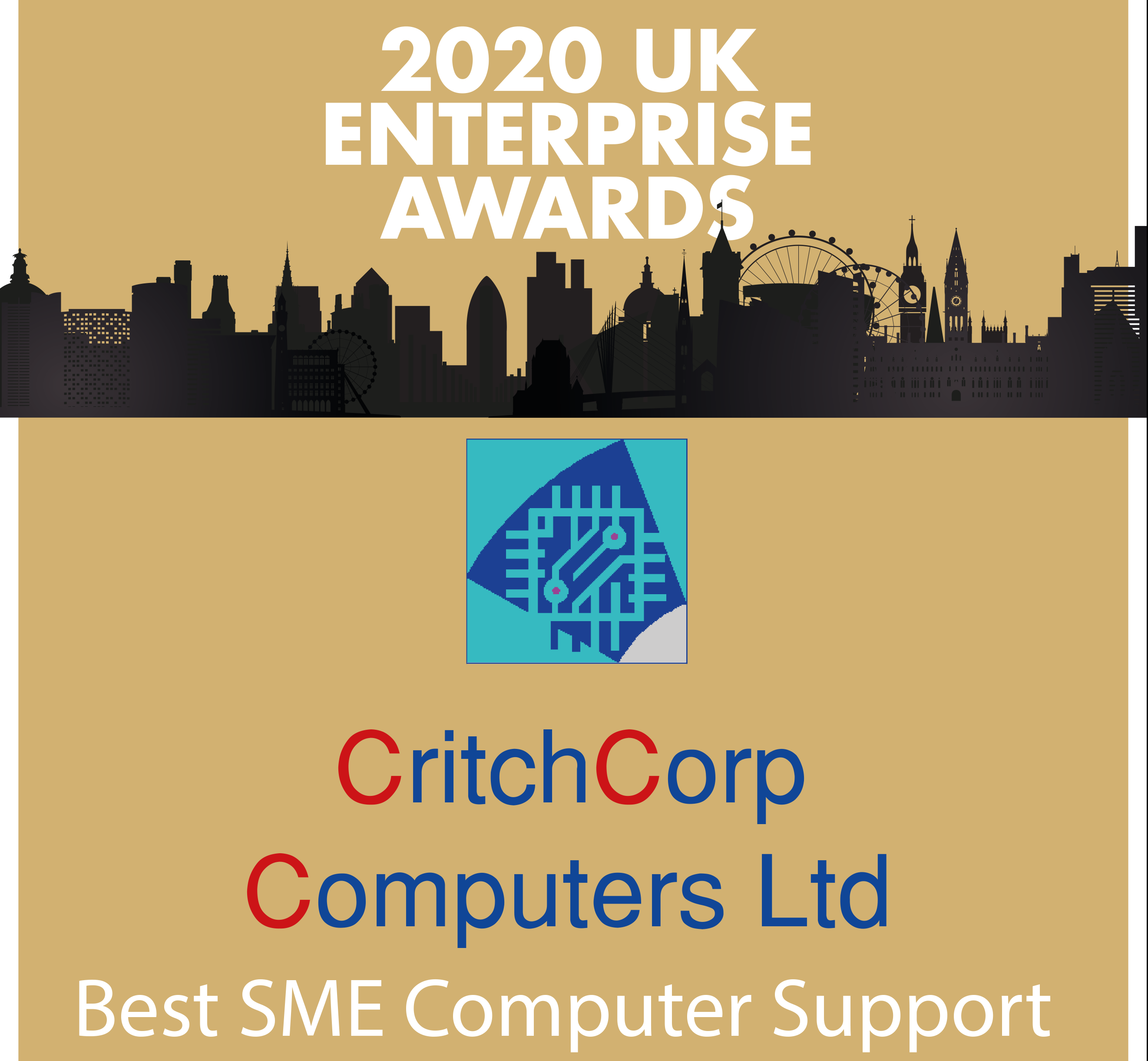 CritchCorp Winner of the 2020 SME UK Enterprise Awards
