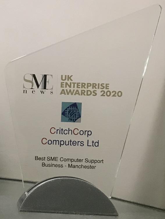 SME 2020 Winner UK Enterprise Awards Trophy
